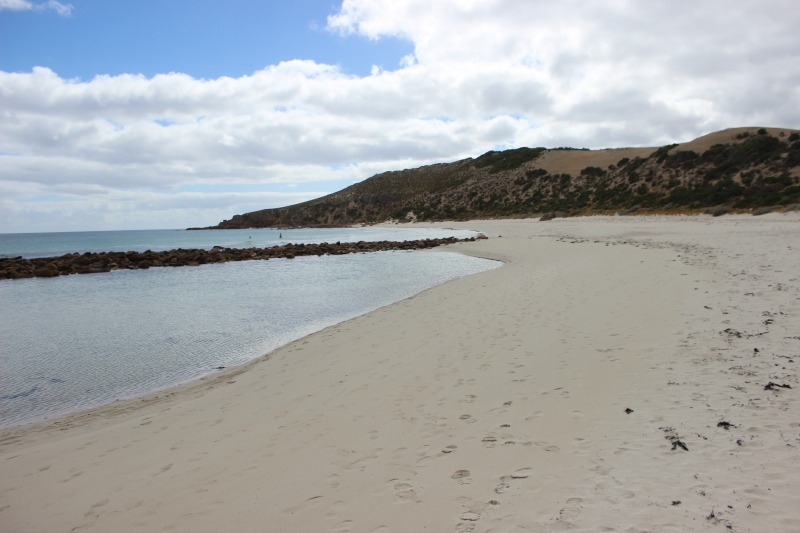 Hidden beach at Stoke's Bay on Kangaroo Island