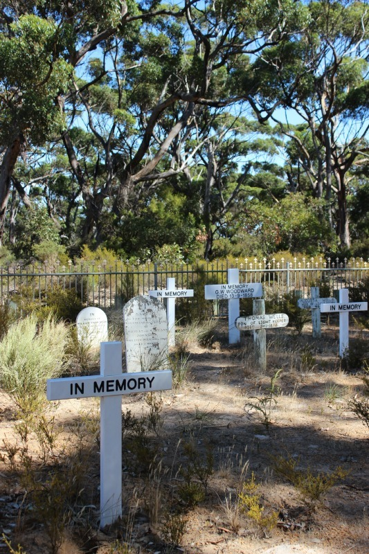 Lighthouse Keepers Cemetery at Cape Borda on Kangaroo Island