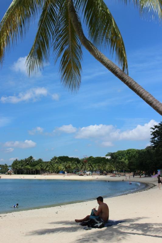 Palawan Beach on Sentosa Island in Singapore