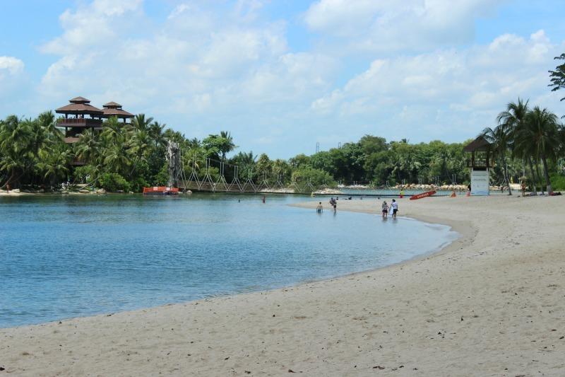 Sentosa Island's Palawan Beach in Singapore