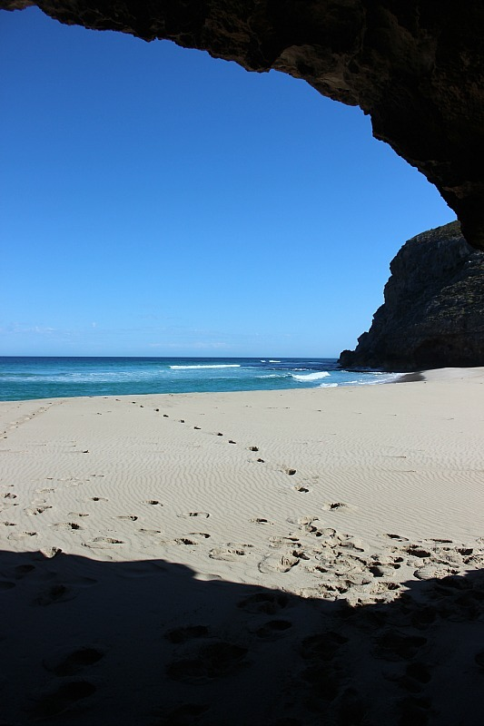 Cave at Ravine des Casoars beach on Kangaroo Island, the end of the best Kangaroo Island wilderness trail