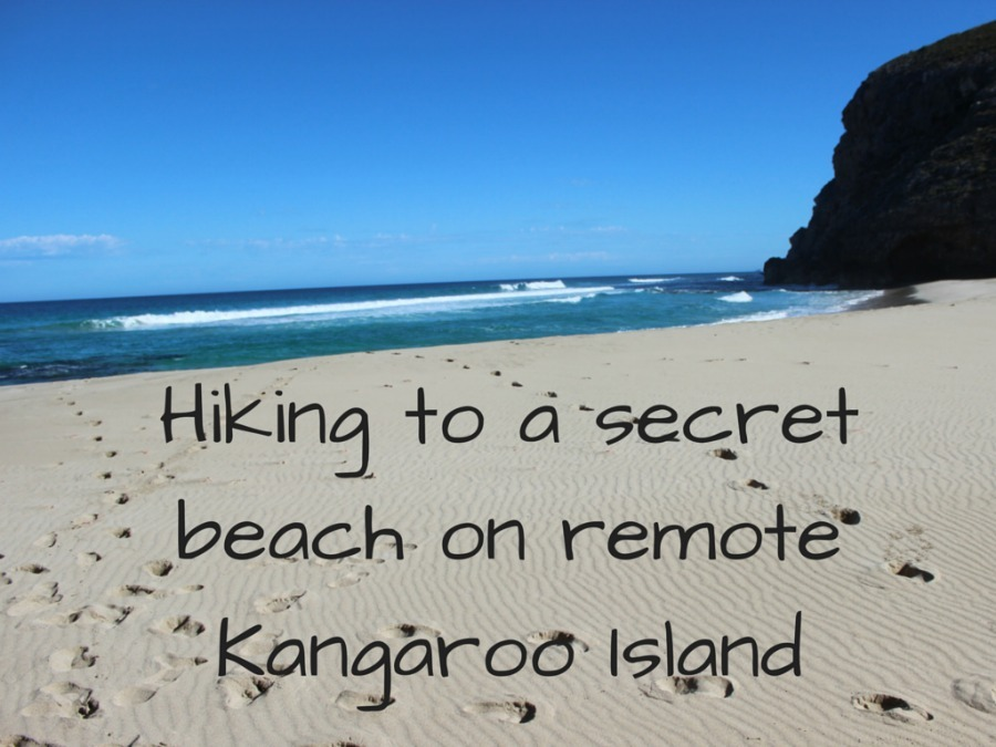 Hiking to a secret beach on remote Kangaroo Island