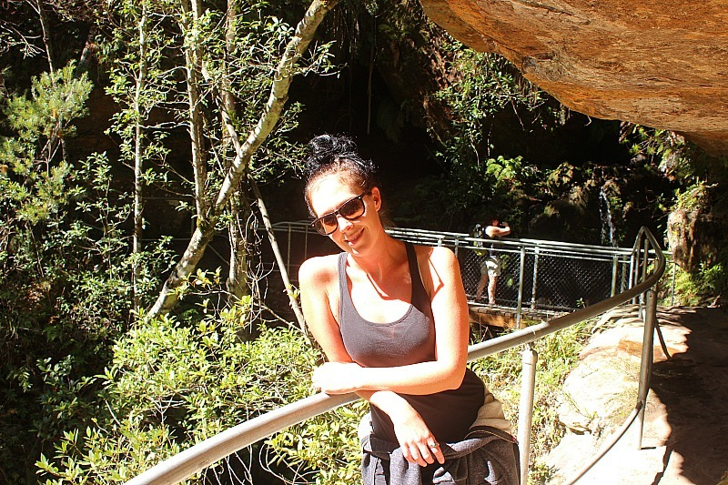 Catching some sunshine in the Grand Canyon of Australia in the Blue Mountains