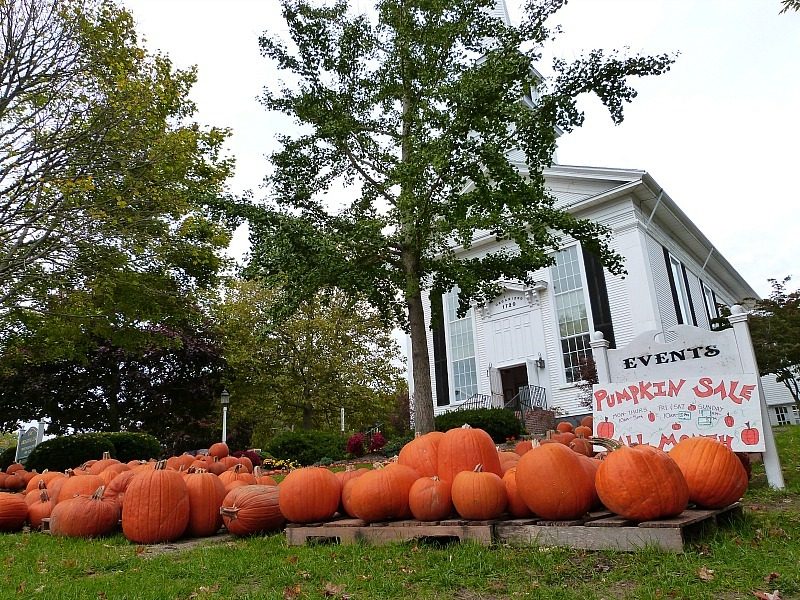 Pumpkin sale in Chatham, Massachusetts