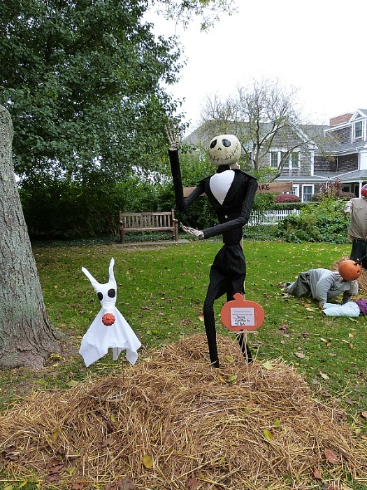 Scarecrow competition in Chatham - one of the best small towns in Massachusetts