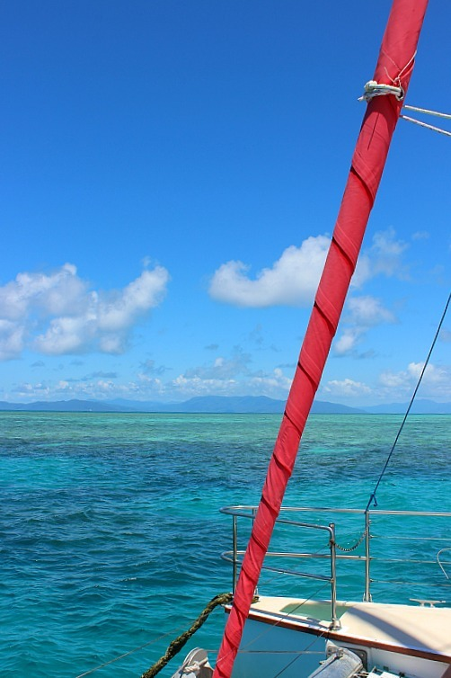Sailing to Great Barrier Reef