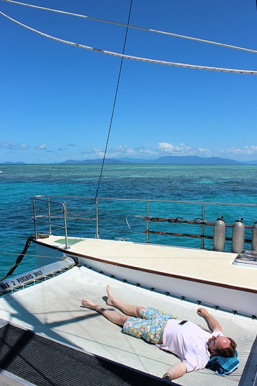 Sailing to the Great Barrier Reef