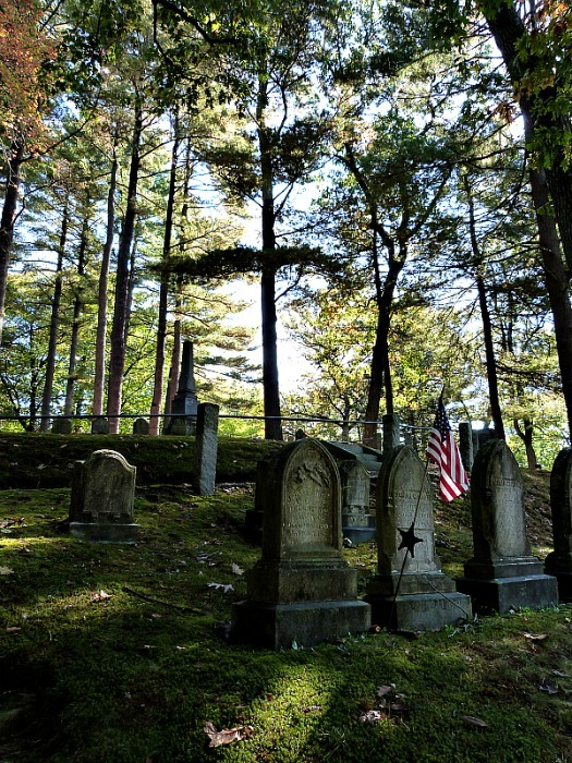 Sleepy Hollow Cemetery in Concord Massachusetts - one of the best small towns in Massachusetts
