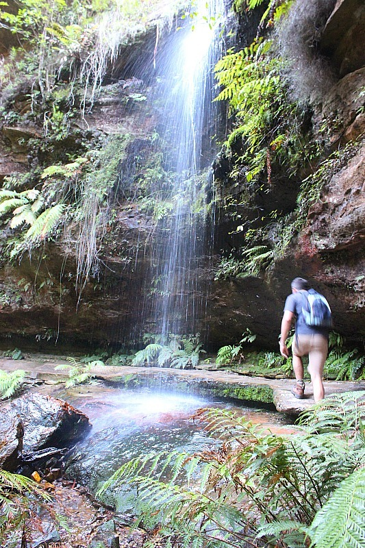 Waterfall crossing in the Grand Canyon, in the Blue Mountains of Australia