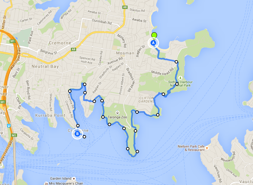 Balmoral to Cremorne Point