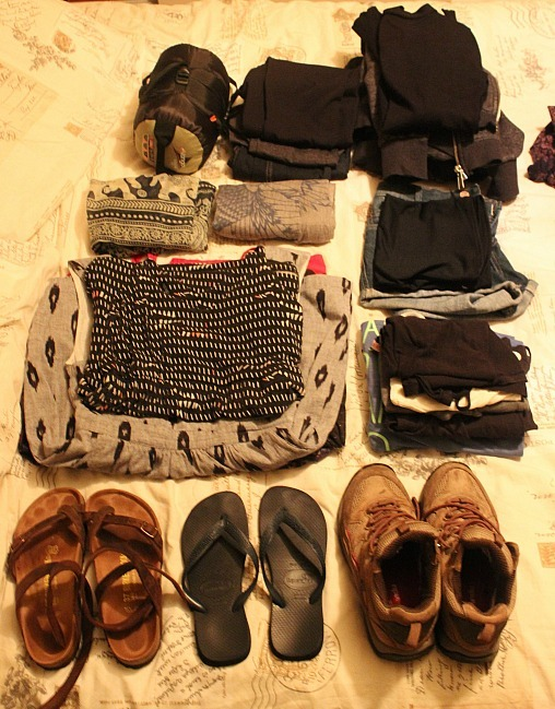 Clothing - part of my Summer Packing List for three months in North America