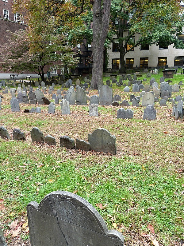 Granary Burial Ground is on the Freedom Trail - a highlight of our Boston in 2 days Itinerary