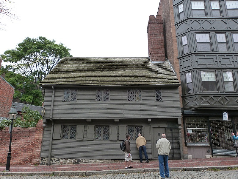 Visiting Paul Revere's house during our 2 day trip to Boston