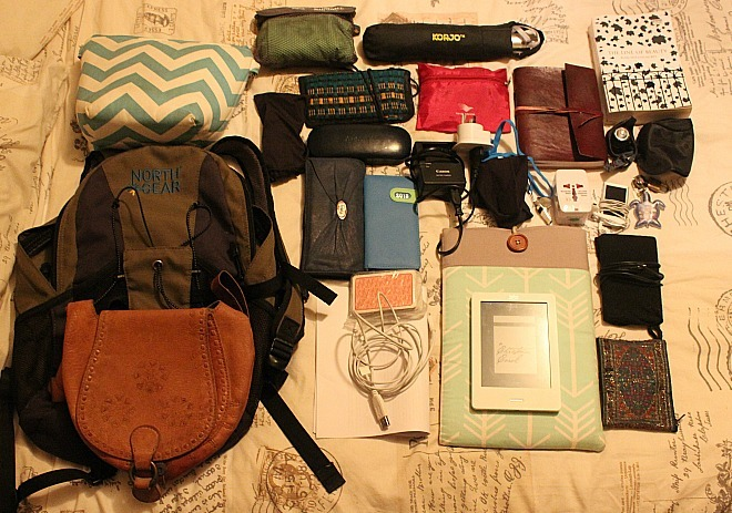 Small backpack contents