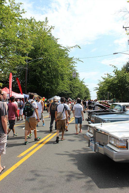 Car show in Greenwood - a northern neighborhood of Seattle WA