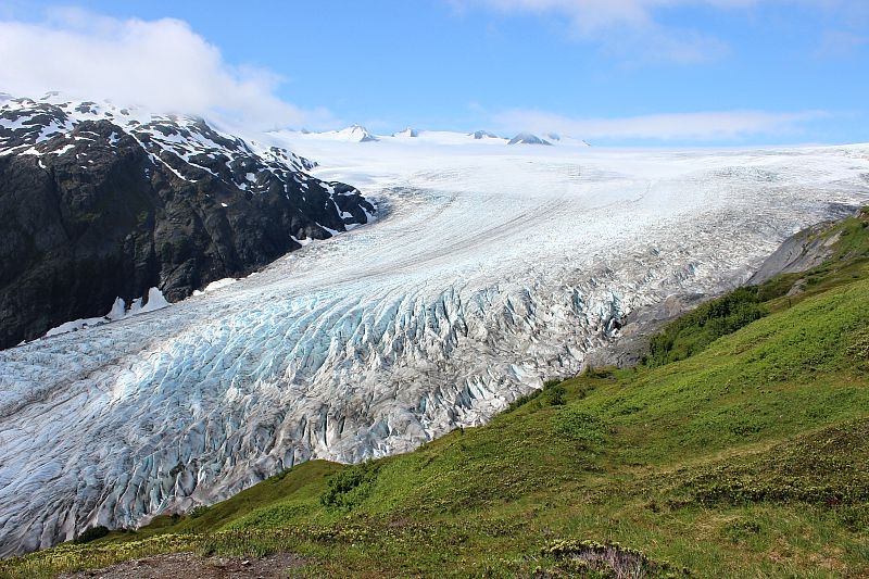 Exit Glacier in Kenai Fjords National Park