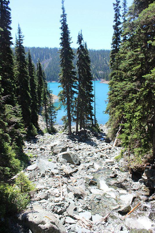 First glimpse of Garibaldi Lake