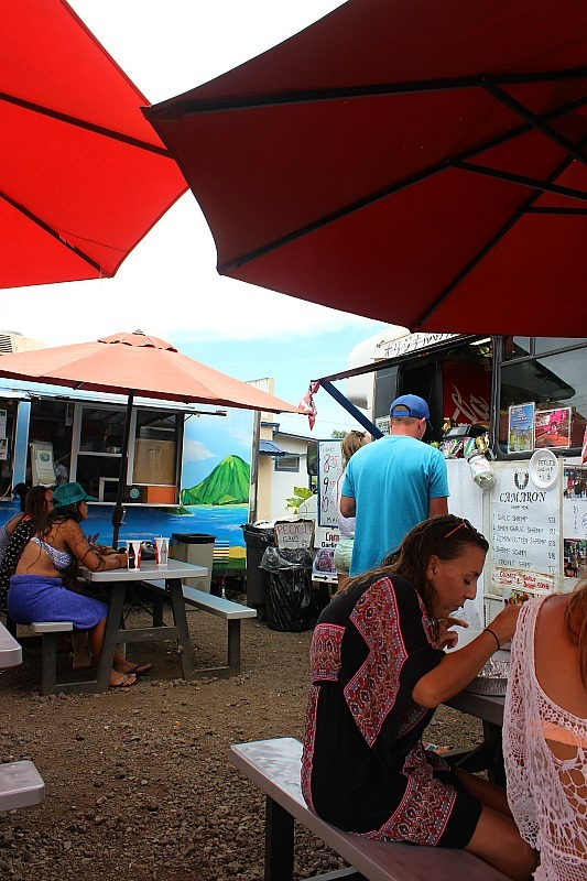 Haliewa food trucks on the North Shore of Oahu