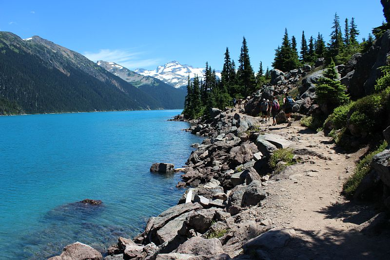 Hiking to Garibaldi Lake during month one of digital nomad life