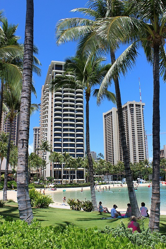 Hilton Hawaiian Village Lagoon in Waikiki