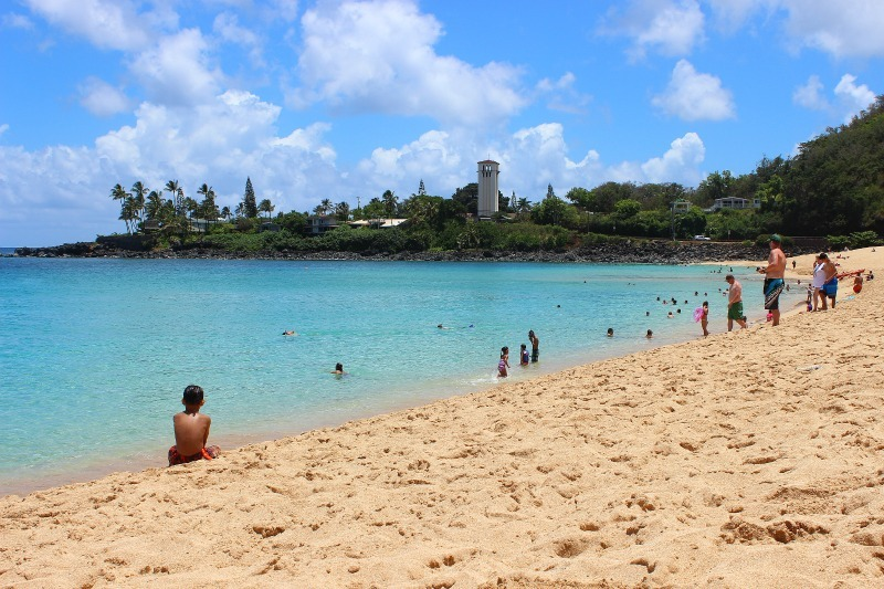 Perfect Waimea Bay on the North Shore of Oahu, Hawaii
