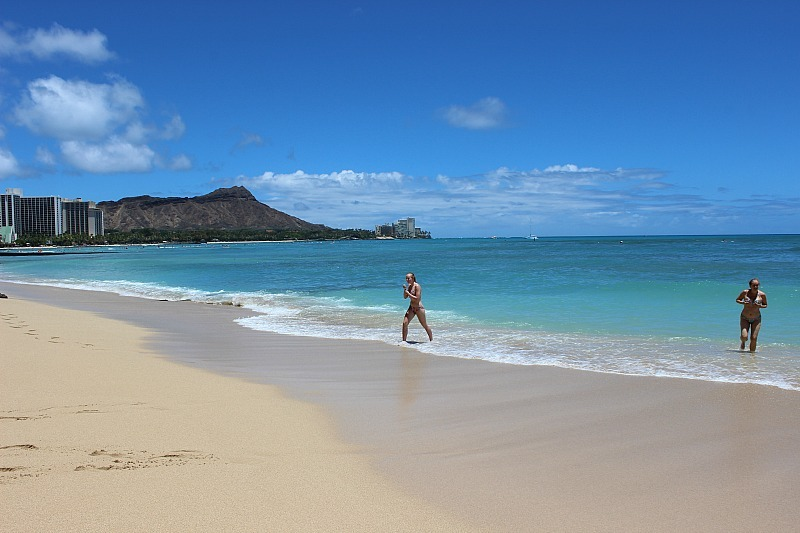 Finding a quiet section of beach to swim is one of the things to do in Waikiki to escape the crowds