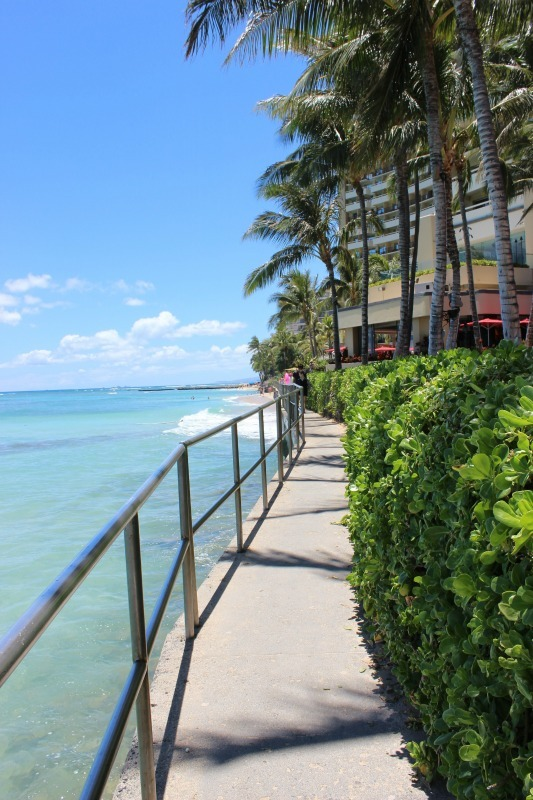 Sheraton boardwalk in Waikiki, Hawaii
