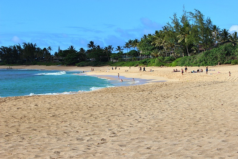 Sunset Beach on Oahu's North Shore in Hawaii
