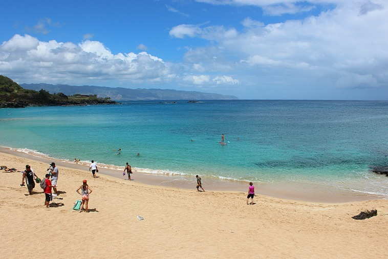 Waimea Bay beach on the North Shore Oahu
