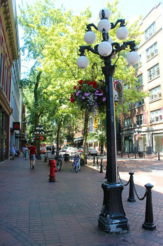 Gastown is best during summer in Vancouver