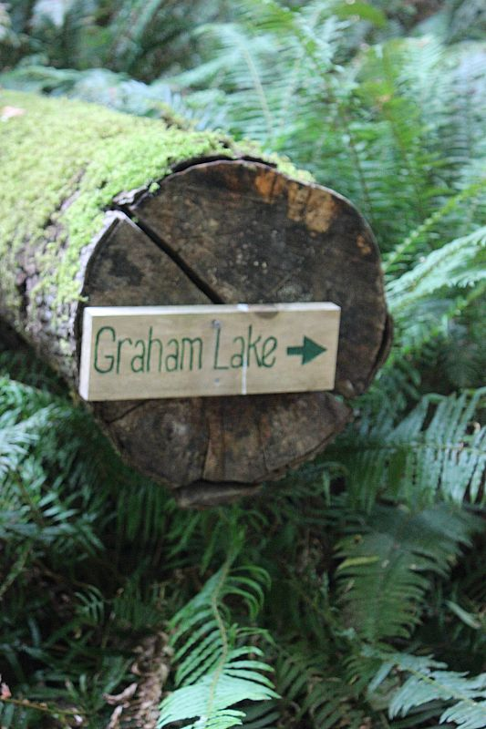 Graham Lake on Denman Island, Canada