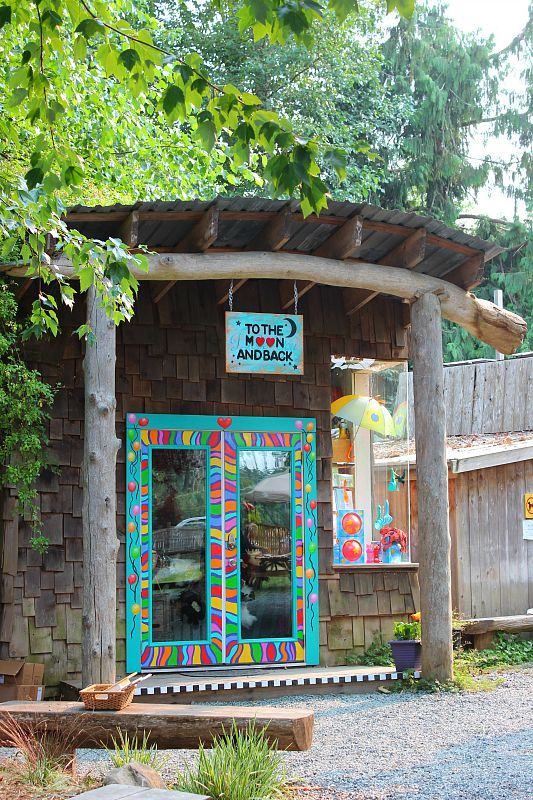 Shops in Ringside Market on Hornby Island, Canada