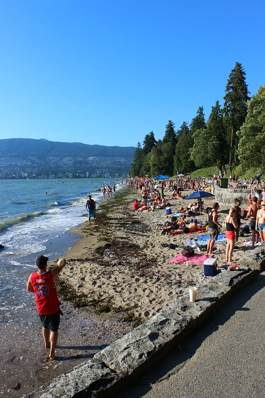 Third Beach in Vancouver - a popular place during summer in Vancouver