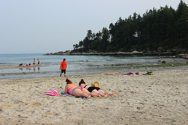 Tribune Bay on Hornby Island, Canada
