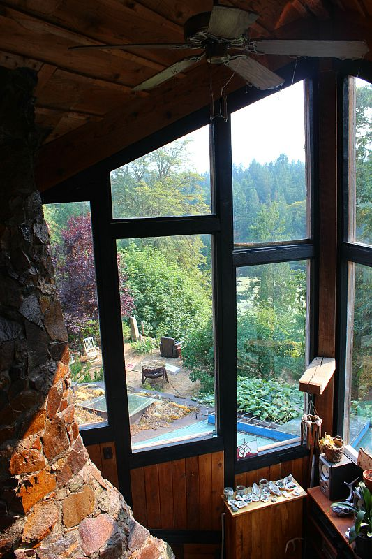 View from the top room where I was staying on Denman Island, Canada