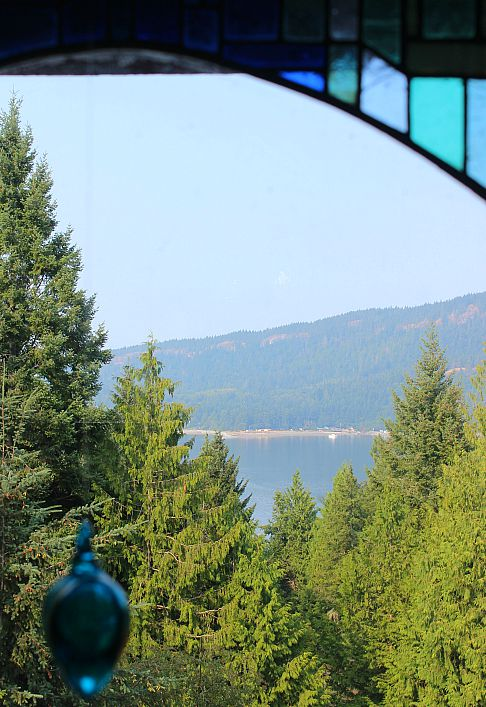 View over to Hornby Island from Denman Island, Canada