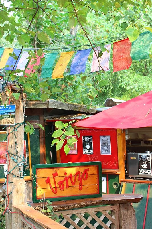 Vorizo Cafe in the Ringside Market on Hornby Island, Canada