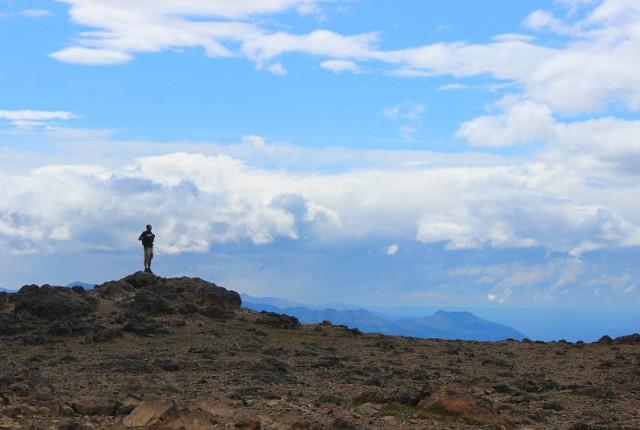 Admiring the view from Flattop Mountain Alaska