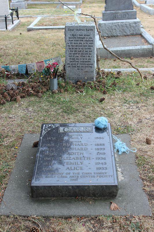 Emily Carr's grave in Victoria, Canada