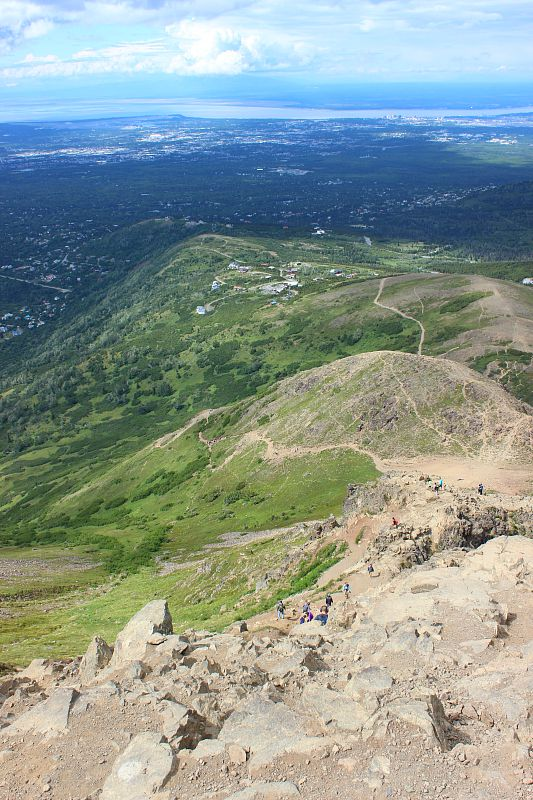 Flattop Mountain trail from above