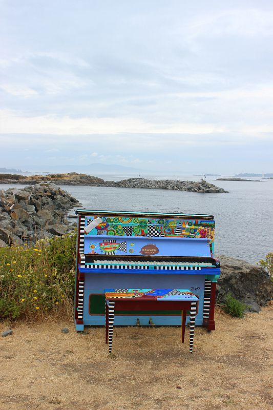 Piano with a view in Victoria, Canada