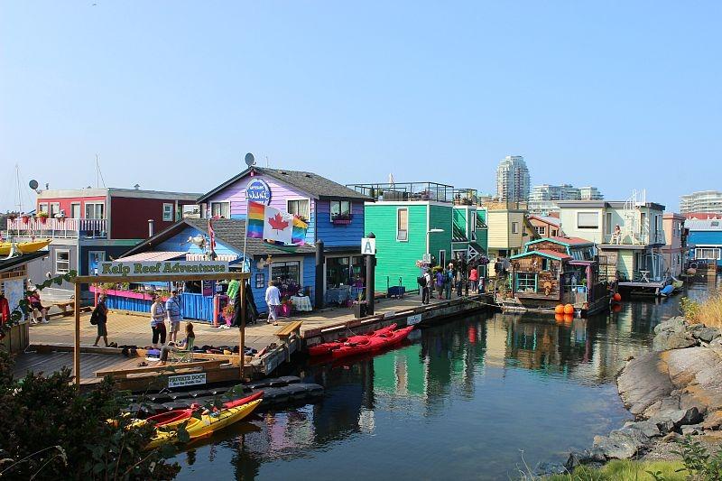 Fisherman's Wharf in Victoria, Canada