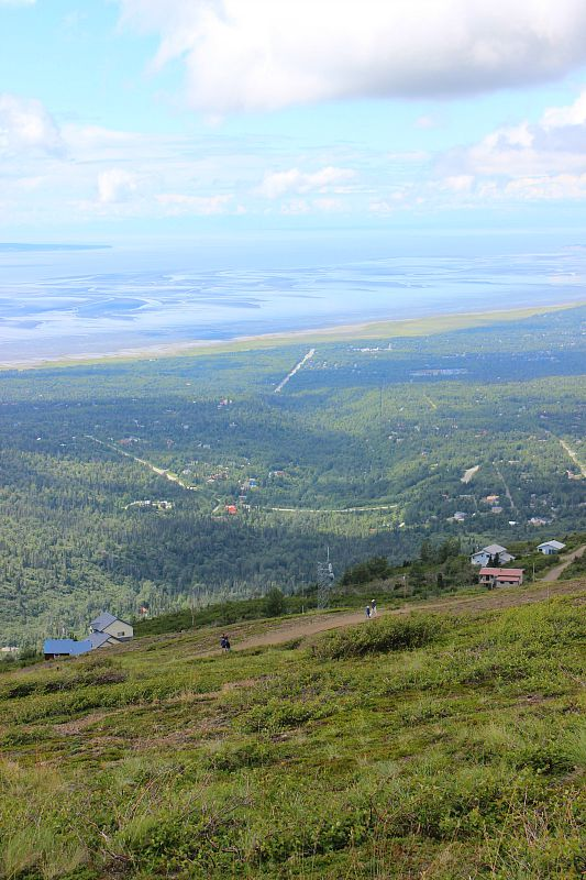 View over the coast of Anchorage from Flattop Mountain