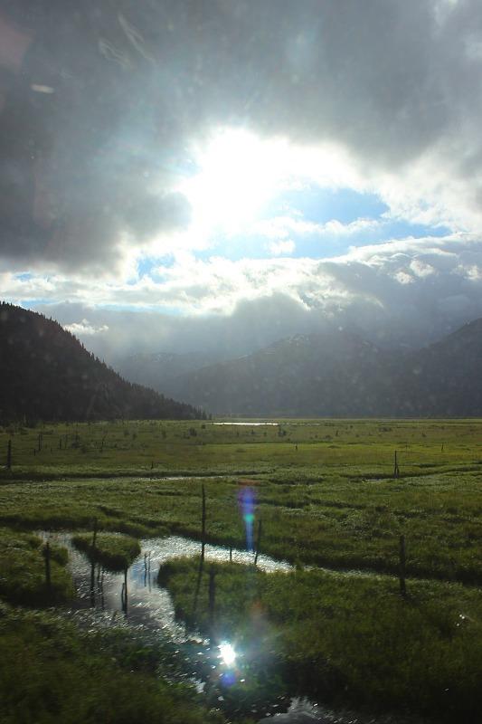 Alaska Railroad views on the way to Seward Alaska