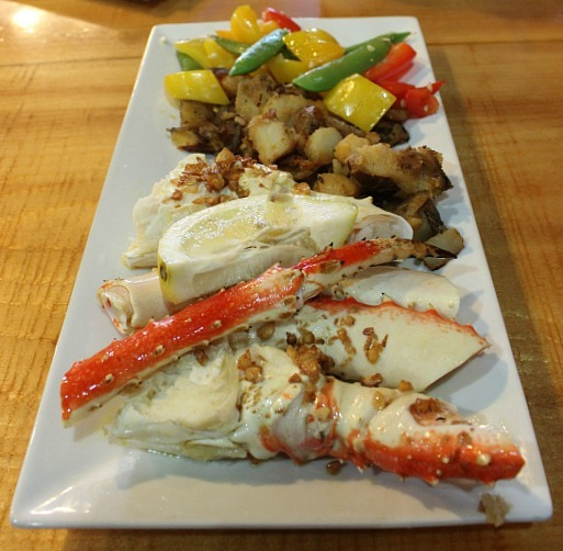 Garlic King Crab in Seward Alaska