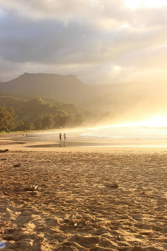Hanalei Bay in Kauai during month four of digital nomad life