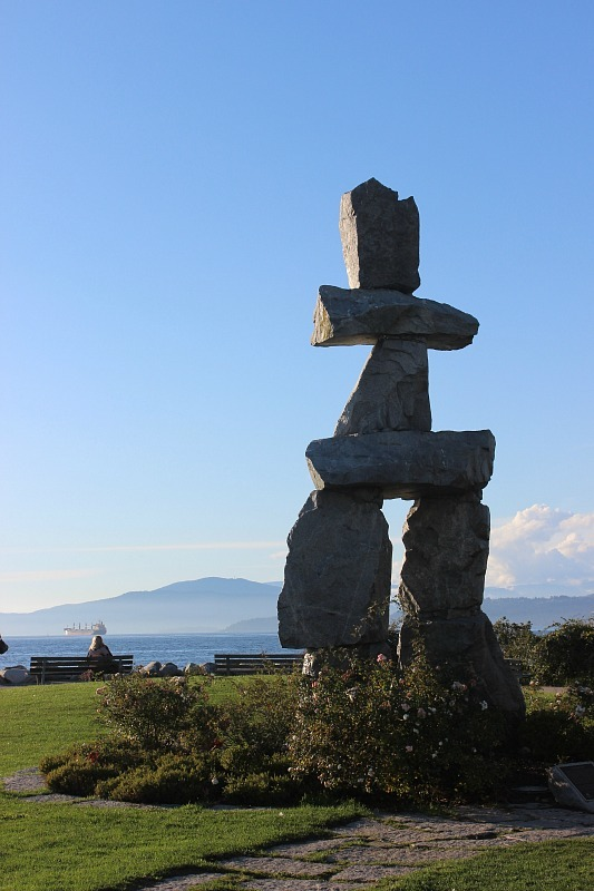 Inukshuk in Vancouver during month four of digital nomad life