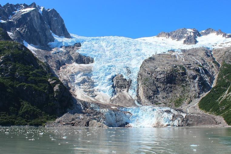 Glacier in Kenai Fjords National Park in Alaska