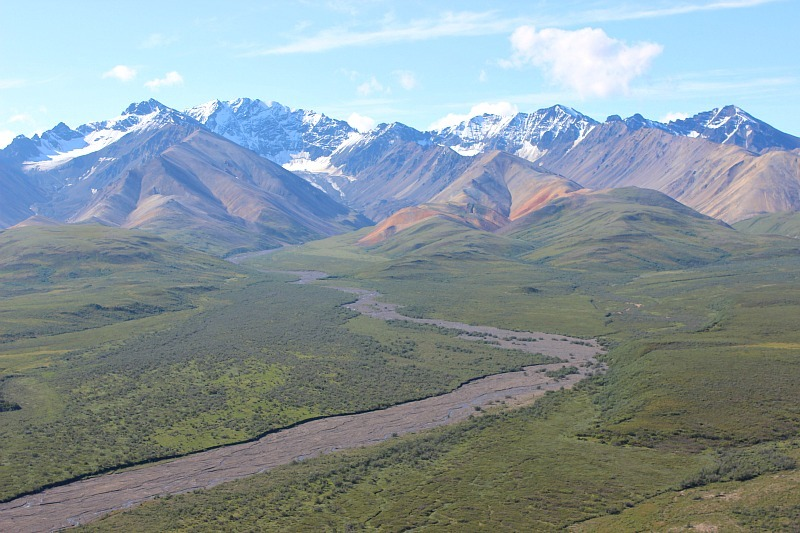 See incredible river valleys in Denali National Park with my budget travel guide
