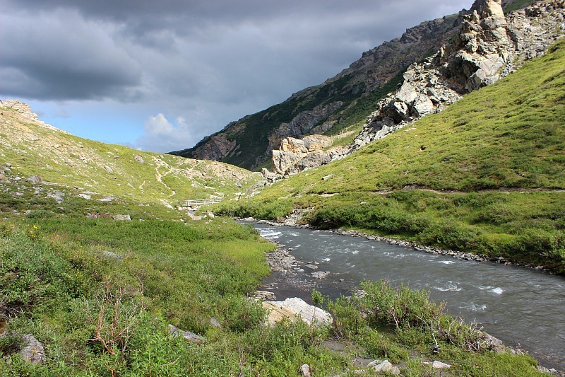 Savage River in Denali National Park - free to get to on a shuttle and a great Denali budget experience